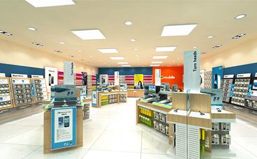 电脑手机展柜-Mobile100平方店