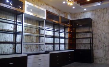 钢木货架-化妆品店