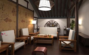 茶馆设计-民俗馆茶艺接待室