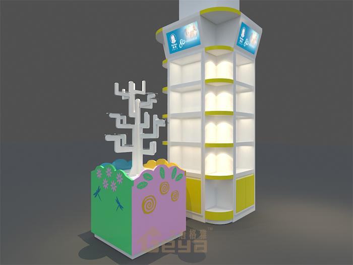 南京展柜工厂-商场专柜超市包柱柜台设计作