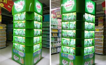 南京展柜-展柜制作厂家 苏果超市包柱