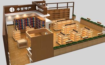 钢木货架-木质货架-南京展柜厂