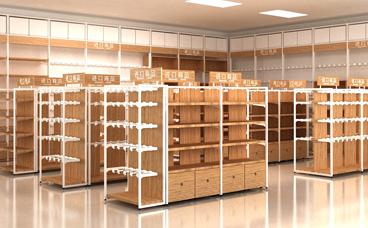 钢木货架-超市货架-木质货架