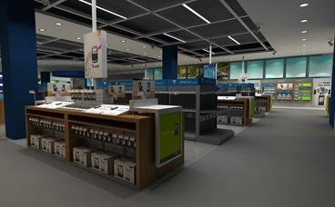 手机展柜-电脑展柜制作-手机柜台