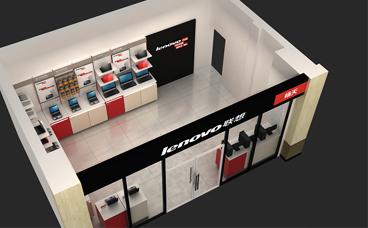 南京展柜制作-联想电脑展柜-手机展柜