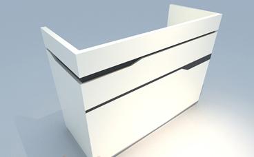 收银柜台-白色烤漆展柜-南京展柜