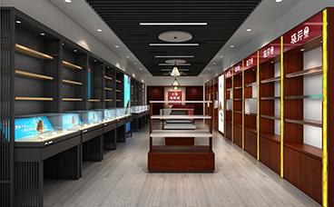 木质展柜-玻璃展柜-海参展示柜